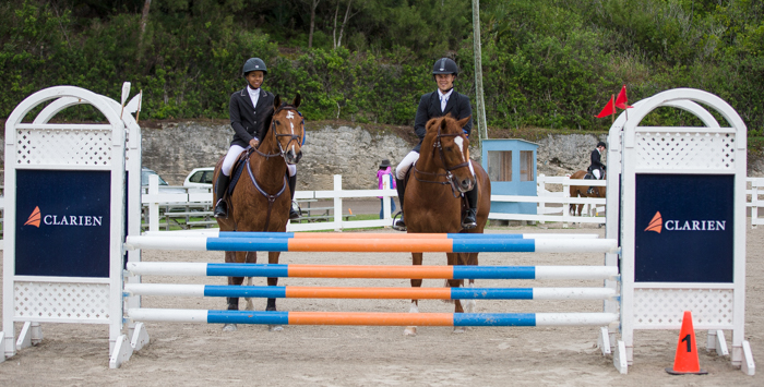 FEI WJC Competition 1 Winner and Runner Up Category A Bermuda Feb 4 2017